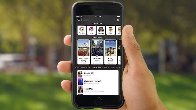 1 millon de historias con la nueva caracteristica de Snapchat