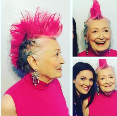 Vovó punk! Ela chegou aos 90 anos e resolveu radicalizar