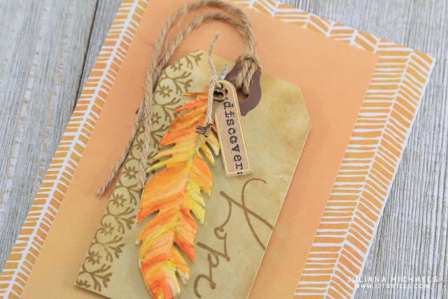 Watercolor Feather Hope Card by Juliana Michaels featuring Momenta Art C Stamps, Dies and Embellishments