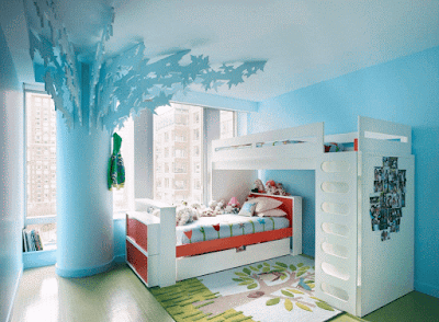 Creative Shared Bedroom for Kids image 2