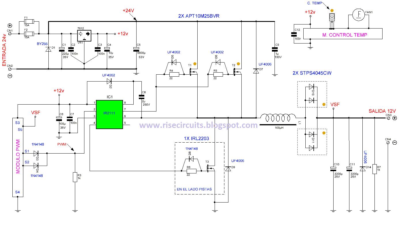 Pv Inverter Wiring Diagram Mono Super Circuit 24v To 12v 400w Dc