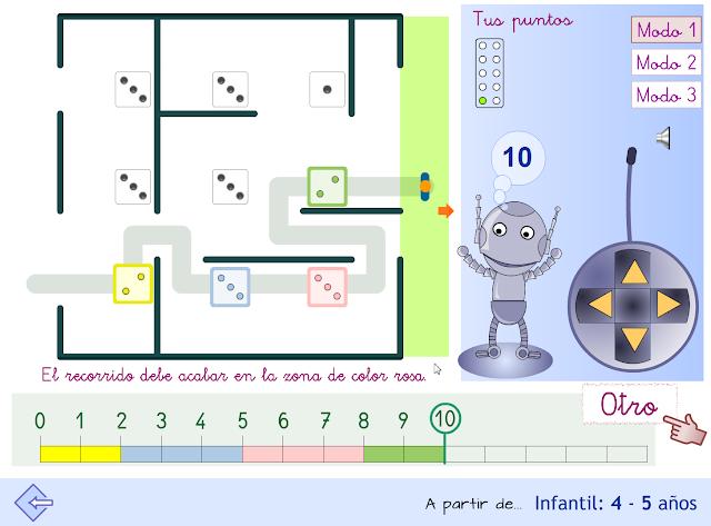 Proyecto MATE.TIC.TAC. Laberinto numérico_10. Infantil 4-5 años.
