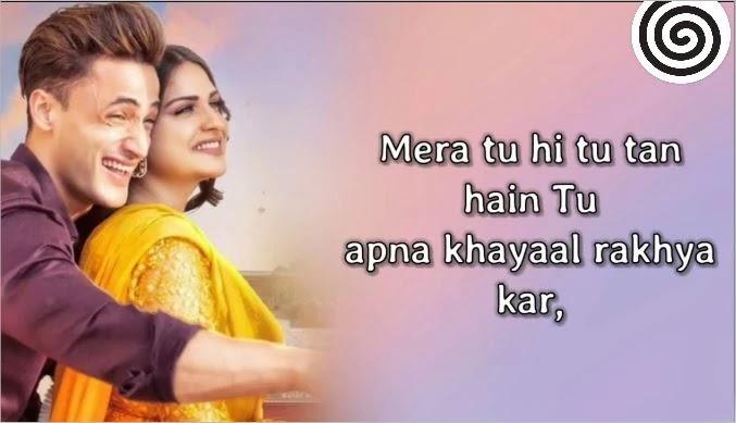 ख़याल राख्या कर KHYAAL RAKHYA KAR Lyrics In Hindi - Asim Riaz & Himanshi Khurana - ख़याल राख्या कर KHYAAL RAKHYA KAR Lyrics In Hindi - Asim Riaz & Himanshi Khurana -   गायक: प्रीतिंदर  संगीत: रजत नागपाल  गीत: बबलू  रजत नागपाल द्वारा निर्मित और व्यवस्थित संगीत  राहुल शर्मा @ एएमवी द्वारा संचालित  अभिनीत: असीम रियाज़ और हिमांशी खुराना            ख़याल राख्या कर लिरिक्स हिंदी में    ज रात नू जानान् बाहर तन मुंडे नाल राख्या कर  मेरा तू ही तू तन हैं तू अपना ख़याल राख्या कर    कड़े कड़े रोटी आके घेरे वि तन खाया कर  वैसे जिन्ना दिल करें पैसे तू उदाया कर  कड़े कड़े कोक नाल सार लिया कर वे  रोज़ रोज़ ठीक नहीं पेग घट्ट लाया कर  छोटे ही छङेय् लगदे छोटे वाल राख्या कर  मेरा तू ही तू तन हैं तू अपना ख़याल राख्या कर      चक्कर नहीं कोई जिन्ना मर्ज़ी तू जछ् वे  दुनिया है सर्ह्दि तू नाराज़ टन बच वे  बब्बू मेरी गाल सुन कुदियन् टन दूर रहीं  हाथ तोर्ह् दैउ ज कोई तनु करुँ टच वे  तू चीज़ प्यारी हैं अएह्नु संभाल राख्या कर  मेरा तू ही तू हैं तू अपना ख़याल राख्या कर    रब्ब नू छद्दिन् न फी बहुत आगे जायेङ   मैं देख्या करङि जड़ों टीवी ुउत्ते जायेङ