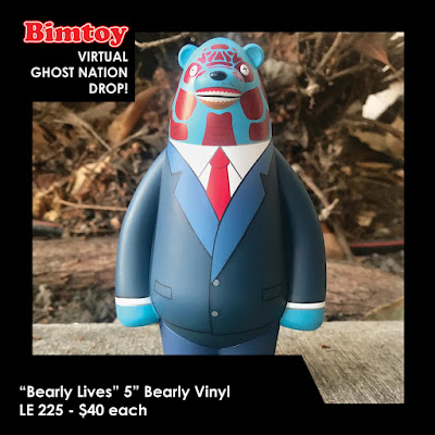 "New York Comic Con 2020 Exclusive ""Bearly Lives"" Bearly 5"" Vinyl Figure by Bearly Available x Bimtoy x Bottleneck Gallery"