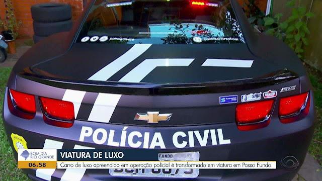 Você é Contra ou a Favor? Carrões comprados com dinheiro do crime se tornaram viaturas policiais de luxo