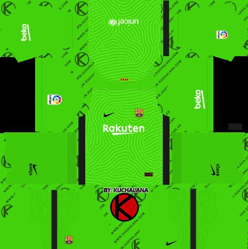 F.C. Barcelona 2020-21 Nike Kit - DLS2019 FTS15