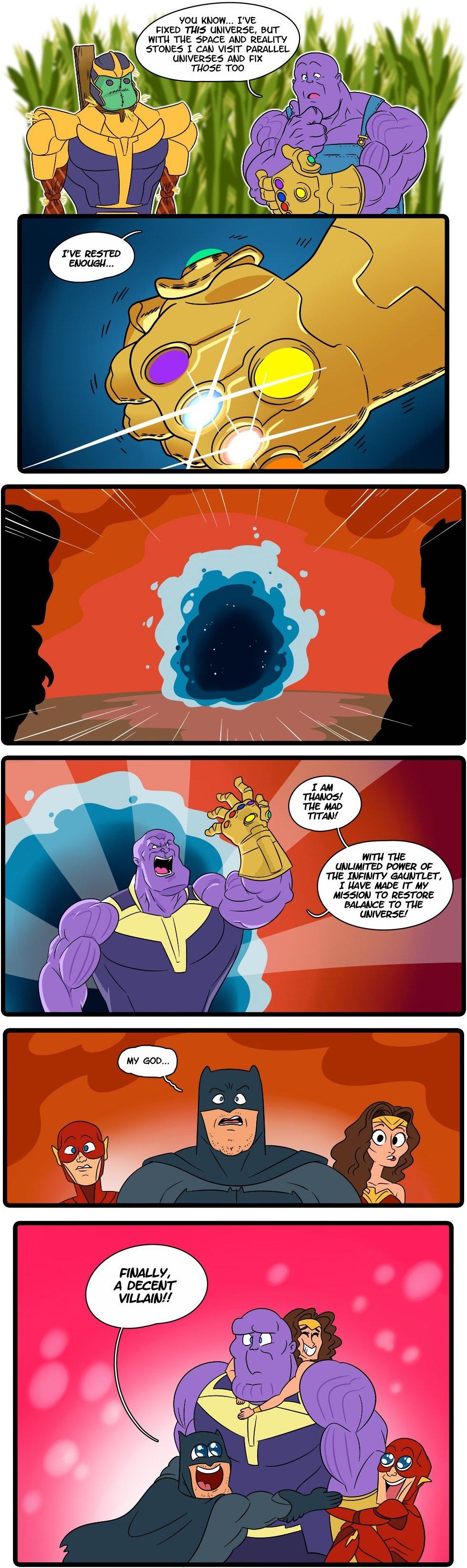 Thanos Batman Wonde Woman