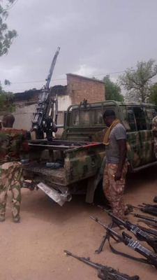 Photos: Troops kill 15 Boko Haram terrorists in Borno, recover large cashe of weapons