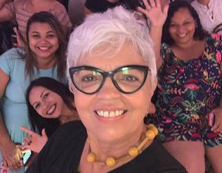 Selfie Rejane Santos e a palestrante Tereza Jeanne