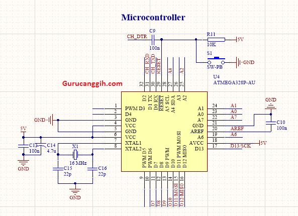 Minimum System Atmega328P-AU