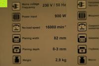 Info: Defort DEP-900-R Elektrohobel 900 W, Falzfunktion, Spanauswurfsystem