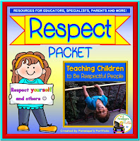 A respect teaching packet including printable, activities, posters, and worksheets