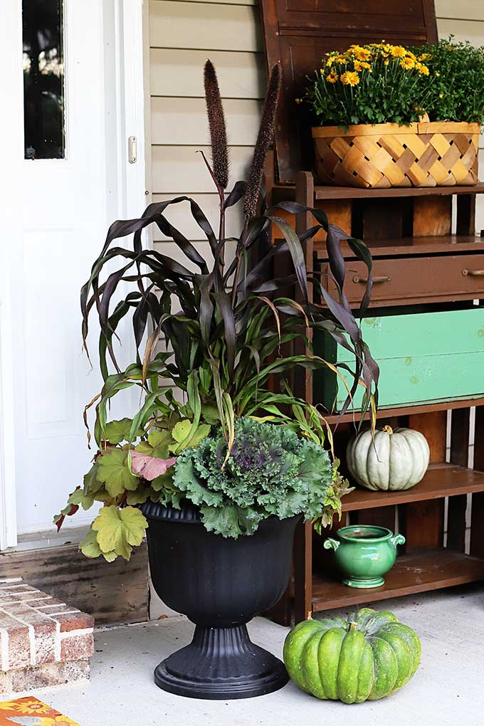 ideas for gorgeous fall planters