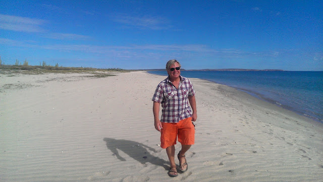 Anders on Playa Santa Ines. Can barely stand the crowds.