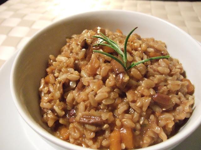 risoto de cogumelos vegano