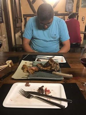 Gelete, Ángel Guimerá Lorente, excavaciones Matarraña, chuletón de ternera