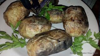 готовый шашлык из картофеля