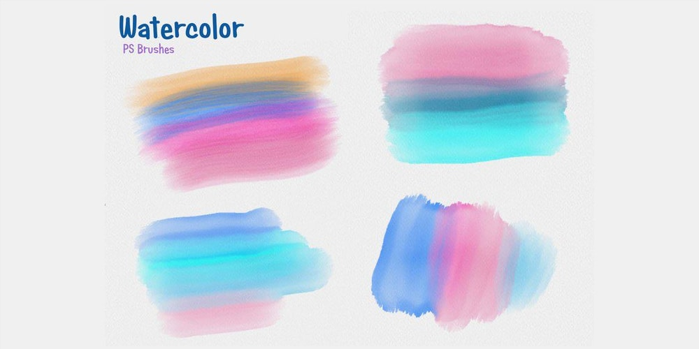 210+ Best Watercolor Photoshop Brushes | Graphic Design