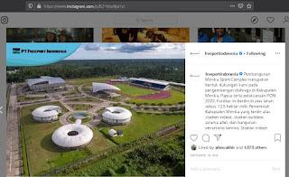 kerennya Mimika Sport Complex, sumber: official instagram PTFI