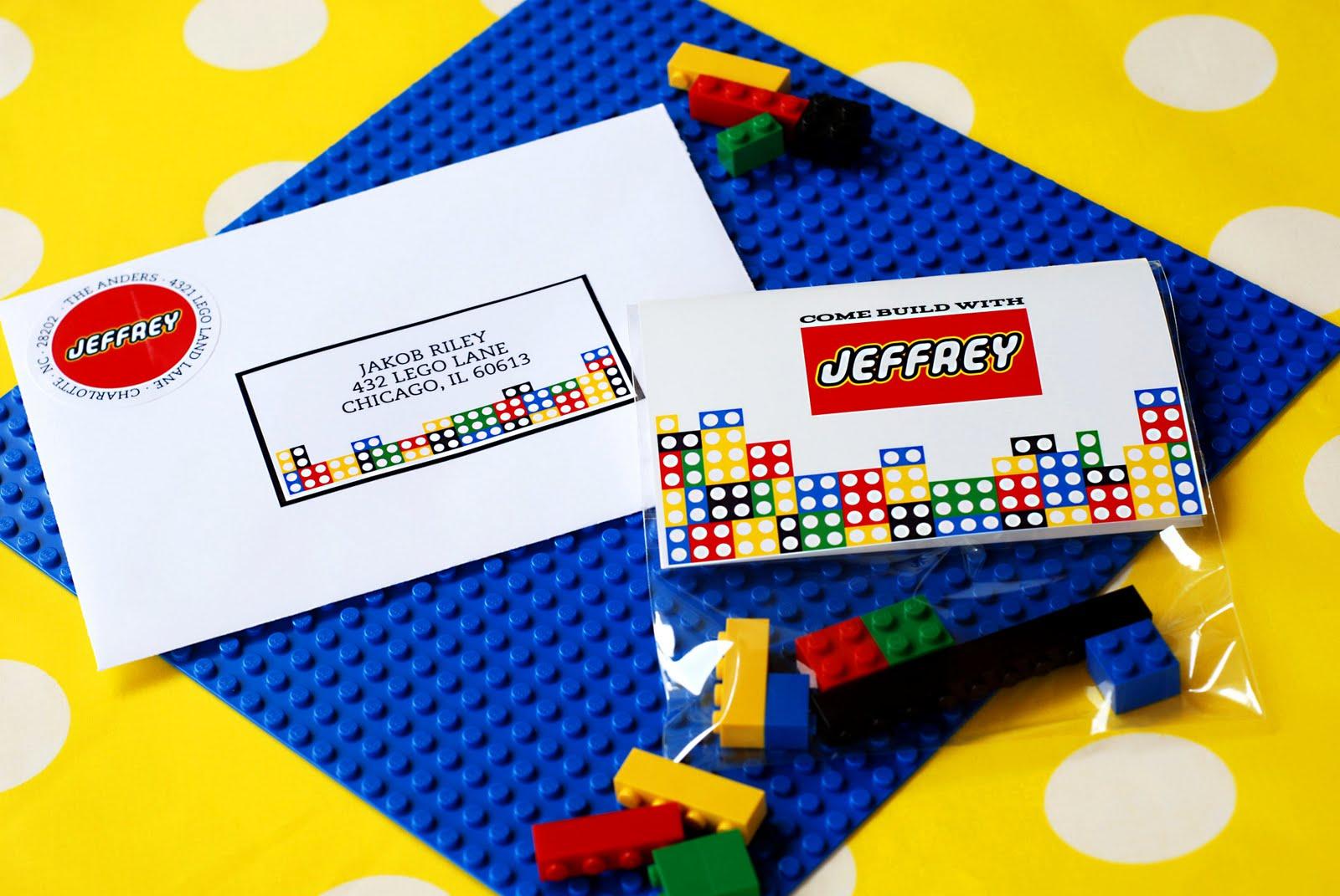 New To The Shop A Modern Lego Invitation Anders Ruff Custom