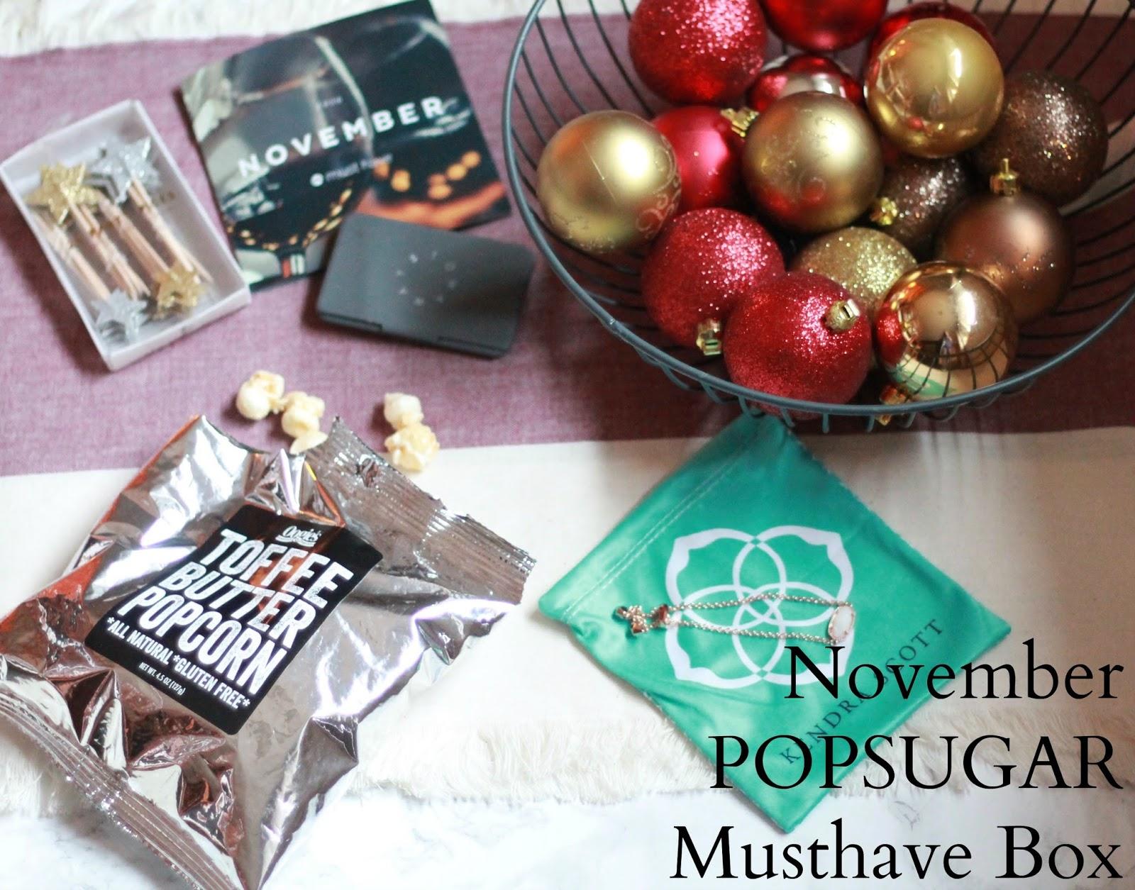 November POPSUGAR Musthave box review