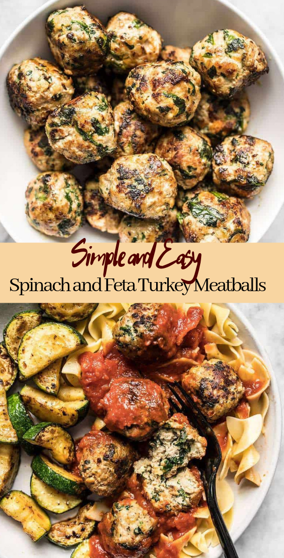 Spinach and Feta Turkey Meatballs #vegan #vegetarian #soup #breakfast #lunch