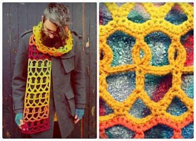 Bufanda HUMANIDAD a crochet para hombres