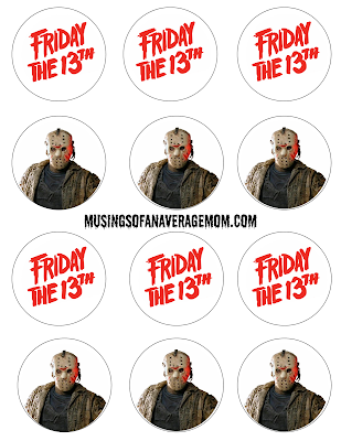 Free printable Friday the 13th party printables