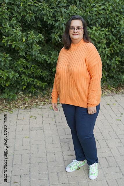 Look con jersey naranja