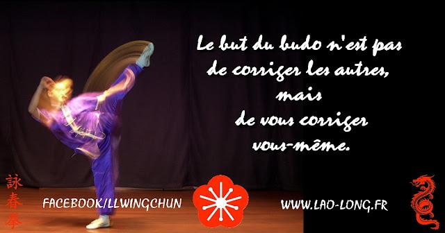 Le but du budo n'est pas de corriger les autres, mais de vous corriger vous-même. MORIHEI UESHIBA  Wing Chun Kung Fu Goncelin
