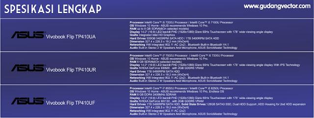 Spesifikasi Lengkap ASUS Vivobook Flip TP410