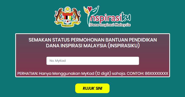 Cara Membuat Semakan Permohonan Dana Inspirasi Malaysia Inspirasiku