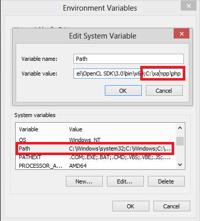 Menambahkan Path PHP ke Environment Variable Windows