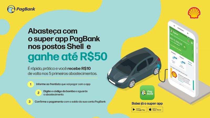 PagSeguro PagBank anuncia parceria com a marca Shell