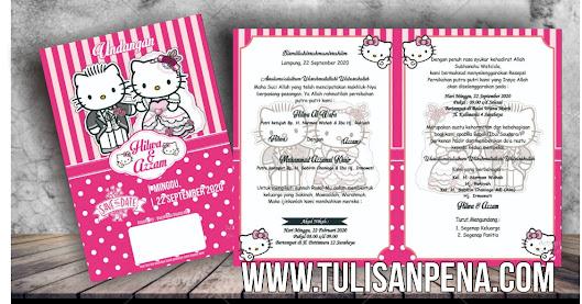 Template Undangan Hello Kitty