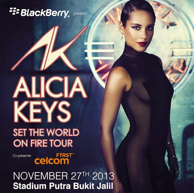 Celcom First: Win Alicia Keys Set The World On Fire Tour Concert
