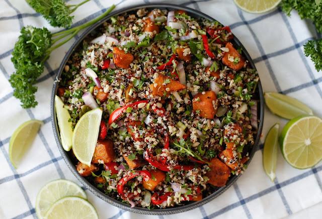 Quinoa Salad with Roast Pumpkin