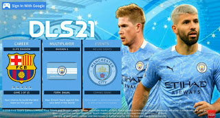 Download DLS 2019 MOD DLS 21 Android V6.13 Special Manchester City Edition New Update Kits & Transfer