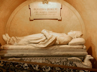 The marble sarcophagus in the Santuario della Consolata in Turin, containing the remains of Cardinal Richelmy