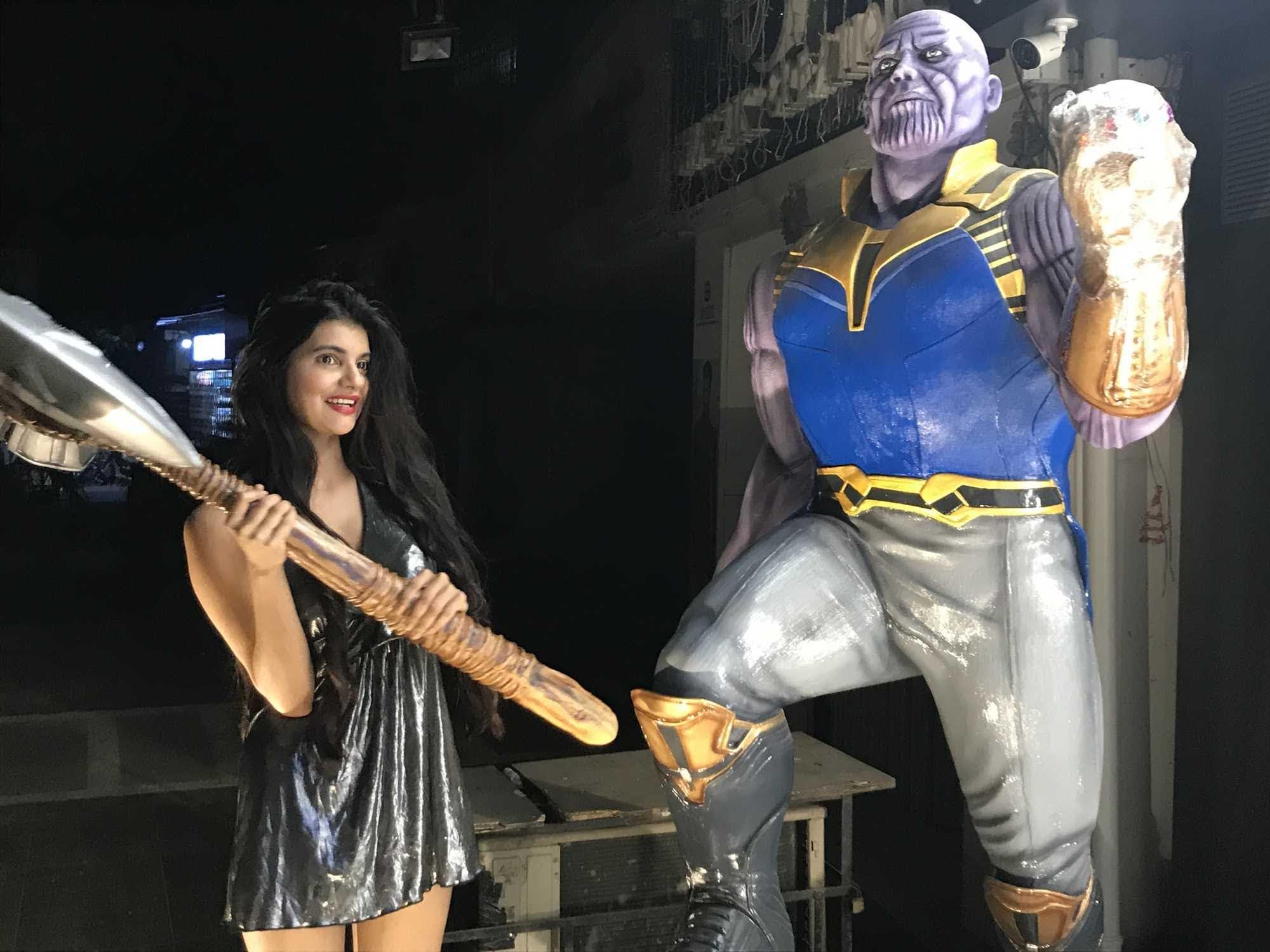 House of Thanos : ディズニーの許可を得ずに無断で、アベンジャーズ人気に便乗の商売をやっていそうなインドのマーベル・カフェ ? ! のハウス・オブ・サノス ! !
