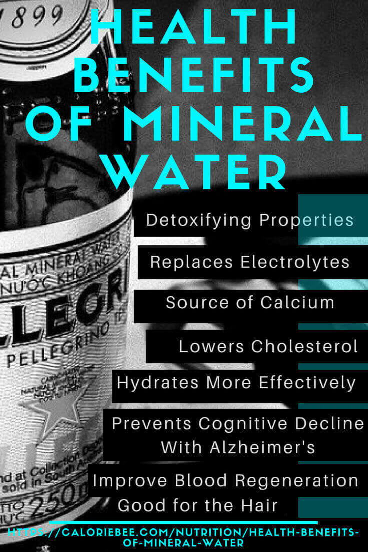 creating an infographicon health benefits of mineral water