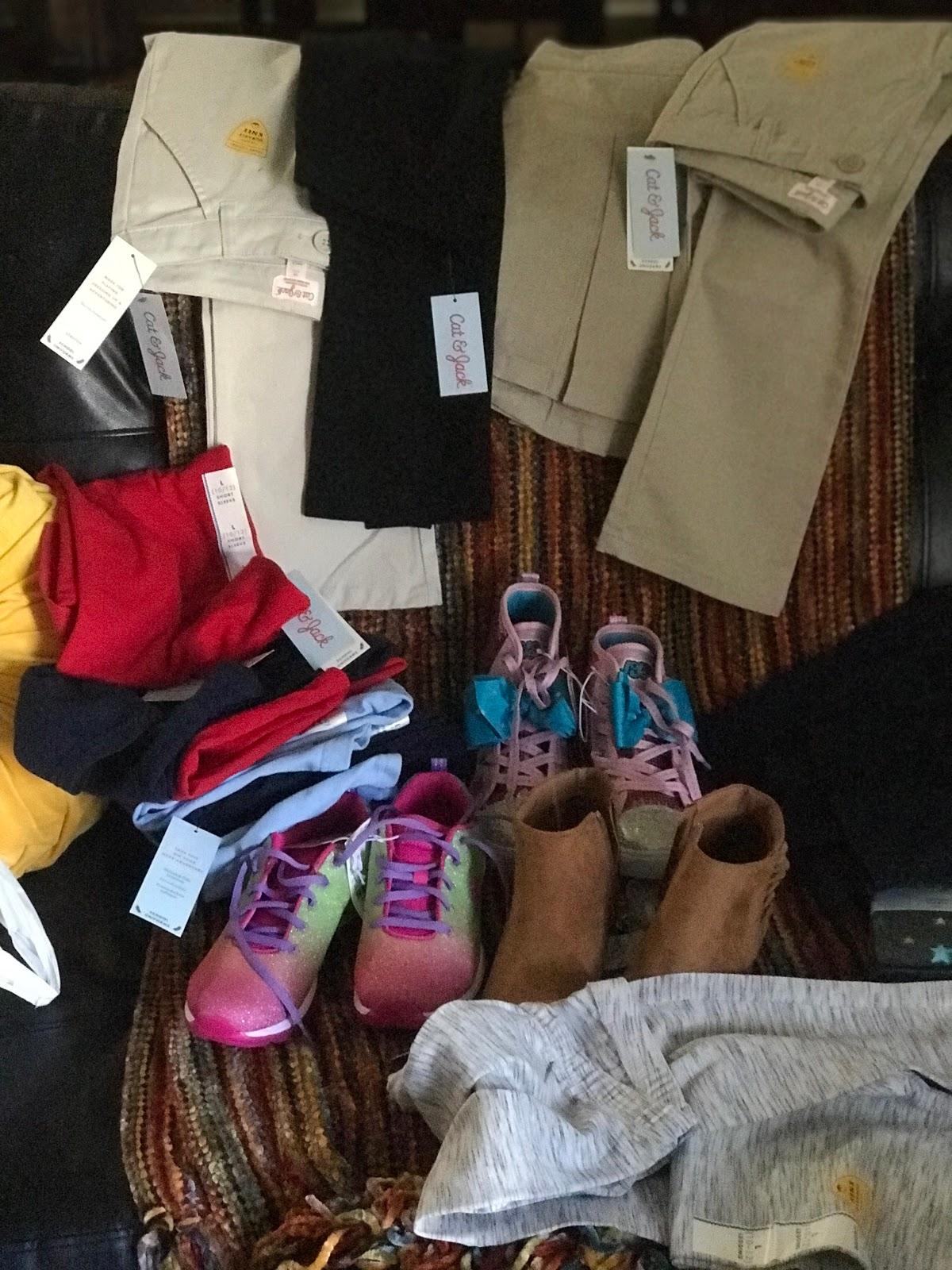 Image: Clothes that were purchased from Target. With My own money. Seen First On Bits and Babbles Blog