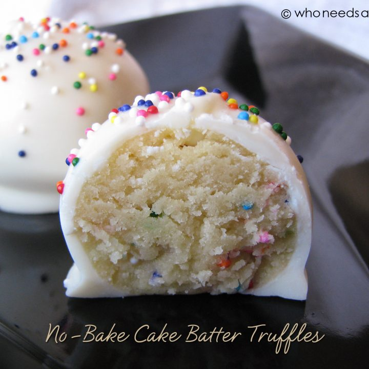 No-Bake Cake Batter Truffles #desserts #cakes #easy #party #nobake