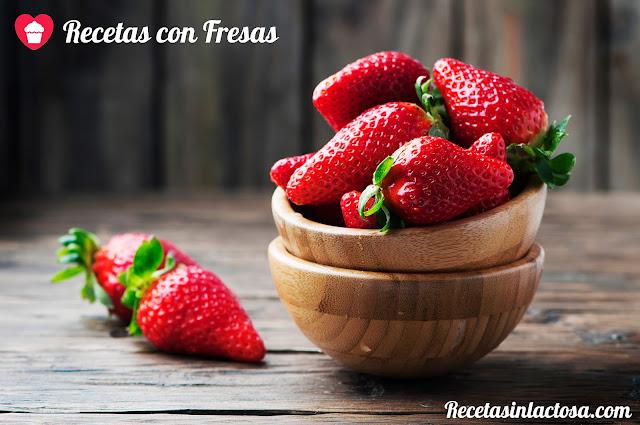 Recetas sin lactosa con fresas