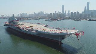 Em momento de tensão, China inaugura seu segundo porta-aviões