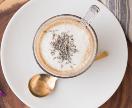 LAVENDER LATTE #drinks #coffee