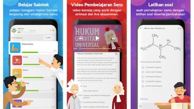 Aplikasi belajar online terbaik SD SMP SMA