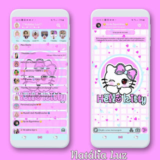 Hello Kitty Pink Theme For YOWhatsApp & KM WhatsApp By Natalia Luz