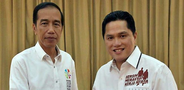 "Jokowi Pasti Tahu ""Posko Presiden"" Bukan Buatan Erick Thohir"