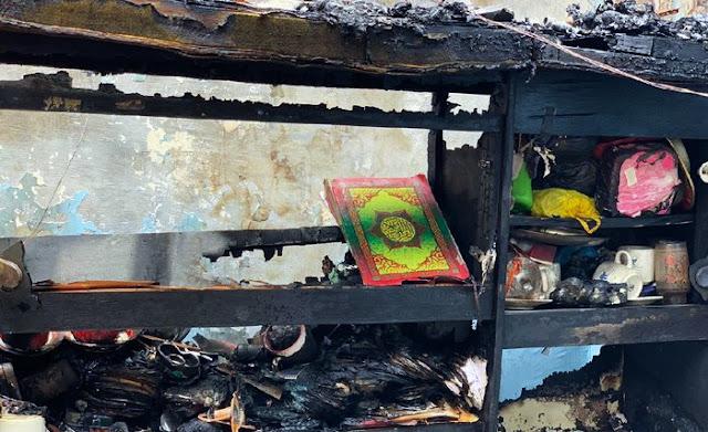 Warga Kaget! Rumah Ludes Terbakar, Al-Qur'an Masih Utuh